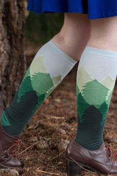 Fir Sure knee highs from Sock It To Me - we think Bob Ross would be proud.