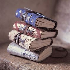 handmade books. I think this is great for journaling.