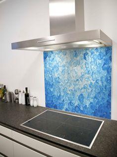 Ice Printed Glass Splashback from DIYSplashbacks.co.uk