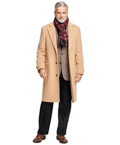 On cold days when I still need to look my best at the office or event, nothing looks better than a suit with a camel hair coat.