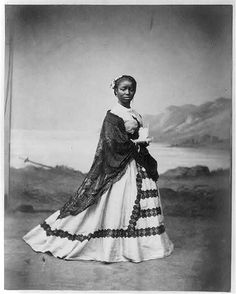 Portrait of Afro-Peruvian girl circa 1868