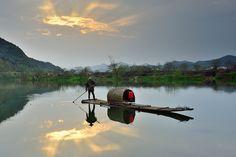 Fisherman 夕霞漁人
