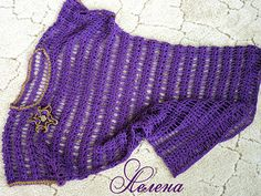Violet tunic for the beach. Discussion on LiveInternet - Russian Service Online Diaries
