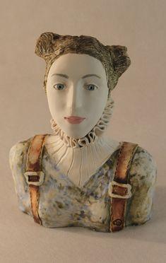 128 Euro , Bust of a Woman , Ceramic Sculpture , Fine Art Ceramic , Art Object , Handmade Clay Sculpture , Ceramic Art , Ceramic Figurine , Pottery by ImagoArtDesign Ceramic Pottery, Ceramic Art, Different Kinds Of Art, Ceramic Figures, Coral Reefs, Clay Dolls, Art Object, Figurative Art, Project Ideas