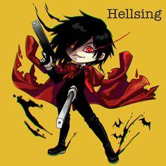 Alucard   Hellsing   ♤ #anime ♤ Chibi