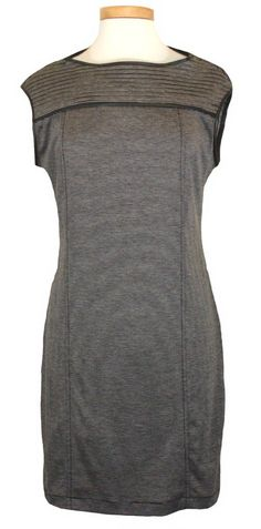 NEW Max Studio Womens Dress Sheath Sleeveless Knit Stripe Grey Black Sz XS $98 #MaxStudio #Sheath #Casual