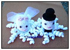 polipetti sposetti  octopus groom and bride amigurumi crochet
