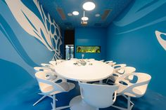 A conference room in Microsoft's Vienna office.