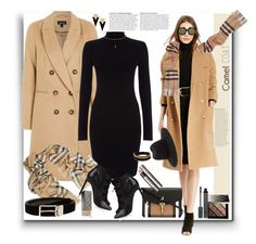 Camel Coat by marionmeyer on Polyvore featuring polyvore, fashion, style, Phase Eight, Topshop, Ralph Lauren, Yves Saint Laurent, Burberry, Vita Fede, MANGO, rag & bone, Anja, clothing and camelcoat