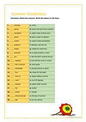 My summer holiday worksheet - Free ESL printable worksheets made by teachers