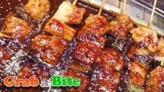 Authentic Chicken Skewers (Dakkkochi : 닭꼬치) - Korean Street Food , ,