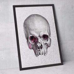 poster pixel skull