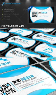 Holly creative business cards, suitable for corporate or Professional entrepreneur, the design is simple, modern
