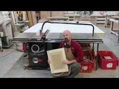 ▶ A Raised Panel, Made Solely On the SawStop Table Saw - YouTube