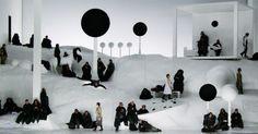 The Black Monk. Oper - The Black Monk. Oper Leipzig. Scenic and lighting design…