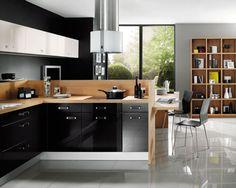 cuisine noir et bois - Recherche Google