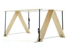 No Nails, Sans Screws: Ratchet-Strap Wood Furniture Series