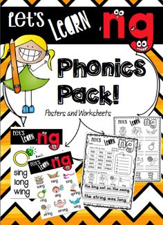 -NG End blend Phonics Pack! Includes - 5 x Worksheets - 3 x Interactive workbook activities - 2 x Posters - 1 x Word to Picture Match Activity/ Literacy Center