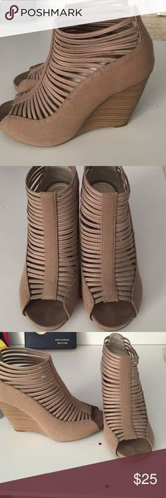 Mia girl heels Mia girls heels. Khaki color. Only worn once. Too big for me. Mia girl Shoes Heels
