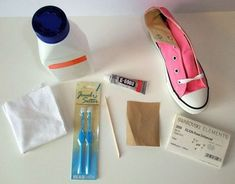 How to Make Swarovski Crystal Converse. My daughter HATES bling, so of course I must do this to her shoes.
