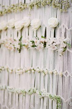 Boho macrame hanging alter design - with all the dreamy flowers #cedarwoodweddings Woodland Cedarwood with White Rabbit Studios   Cedarwood Weddings