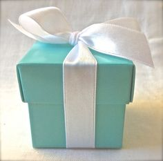 Tiffany Blue Favor Boxes by the Dozen by BonFortune on Etsy