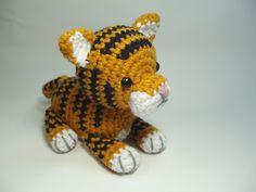 Crocheted Tiger Cub Stuffed Animal