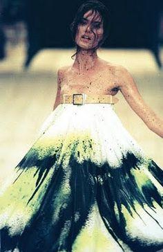 Alexander McQueen - spray paint dress, S/S 1999.