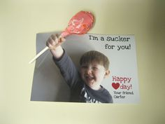 I made some like this for my kids Valentines cards for school.... without calling anyone a sucker! lol