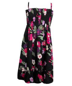 Girls Dress Ex-Next Black Multi Floral Print Strappy Cotton Sun Dress. Sizes:2-5. Girls Summer dress, Free UK Delivery £8.99    save £0.90 (10% OFF*)