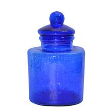 Large Blue Glass Canister By Ashland®