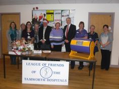 The Christmas 2013 raffle draw by the League of Freinds at Sir Robert Peel Community Hospital, Tamworth