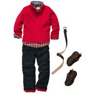 Adorable OshKosh outfit. Love the fleece lined jeans & sweater