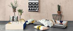 Cojín 100% algodón orgánico Inka Cushion Grey de ferm LIVING. #decoration #decoracion #fermLIVING #cushion #cojin #interiorismo #estiloescandinavo #estilonordico #organicCotton #cotton #algodon #pillows