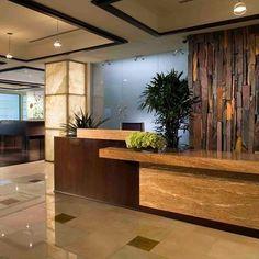 hotel front Reception Desk Design Ideas, Pictures, Remodel, and Decor Curved Reception Desk, Hotel Reception Desk, Reception Desk Design, Reception Areas, Spa Design, Design Ideas, Design Miami, Design Hotel, Florida