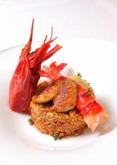 Restaurante Aragonia Palafox:  Arroz, mar y montaña de carabinero y pollo de corral