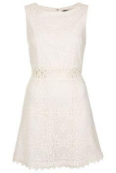 60s Lace Panel Shift Dress - Shift Dresses - Topshop USA