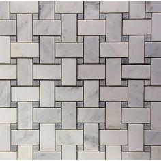 Ivy Hill Tile Basketbraid Asian Statuary 12 in. x 12 in. x 10 mm Honed Marble Mosaic Tile, White Honed Honed Marble, Marble Mosaic, Stone Mosaic, Mosaic Tiles, Wall Tiles, Marble Floor, Tiling, Stone Tiles, Splashback Tiles