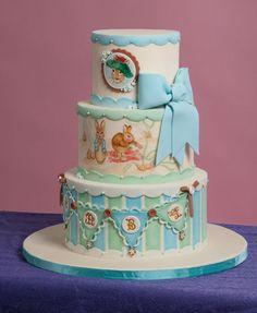 Beatrix Potter Benjamin Bunny Baby Shower Cake