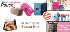 Choose one of the 5 items from Undergarment #Pouch, Travel #Wallet, Waist Storage #Bag, Dress #Jewelry Organizer & Multi-Purpose #Tissue Box for only AED 25... #Dubai #UAE  Buy Here --> http://www.hitthedeals.com/dubai/products/special-offer.html