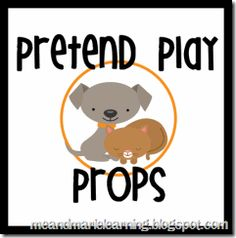 All kids love pretending! Aid in this love by adding Pretend Play Props to your playroom or classroom. Pretending is a great time to practice turn-. Preschool Lesson Plans, Preschool Classroom, Preschool Crafts, Classroom Ideas, Kindergarten, Dramatic Play Area, Dramatic Play Centers, Daycare Themes, School Play
