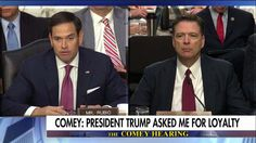 Rubio to Comey: Only Thing Not Leaked Is That POTUS Was Not Under Investigation. ~ He wanted to perpetuate the propaganda ~