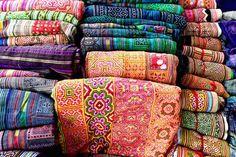 Haute Culture Textiles Tour Bac Ha Market Vietnam Flower Hmong fabric