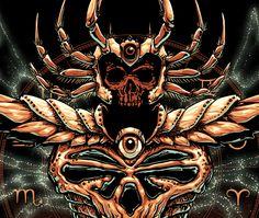 Câncer, Death Mask, Mascara da Morte, Maingold, Deathtoll,