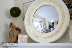 Gold Leaf Painted Mirror June 13, 2014 by Jamie Leave a Comment Gold Leaf Painted Mirror