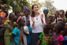 14 November 2015: Crown Princess Mary of Denmark visited with members of the community of Sahre Bocar, Senegal on behalf of the Orchid Project, an NGO working to end female genital cutting.