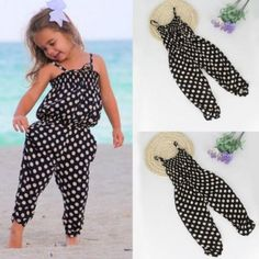 Goodlock Toddler Kids Fashion Jumpsuit Baby Girls Summer Strap Romper Jumpsuit Harem Pants Clothes Outfits on Amazing Baby Photo 6435 Little Girl Outfits, Kids Outfits Girls, Toddler Girl Outfits, Toddler Fashion, Kids Fashion, Baby Girl Pants, Baby Girl Dresses, Baby Dress, Baby Girls