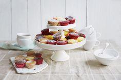 Mini-muffins til selskapet Mini Muffins, Mini Cupcakes, Cereal, Breakfast, Food, Morning Coffee, Meals, Yemek, Corn Flakes