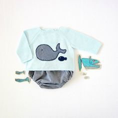 A knitted sweater with diaper cover  blue with a by tenderblue, $75.00