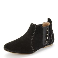 Bota Cano Baixo Bia Rasteira Spike  R$79.90 #winter #shoes #boots